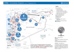 UN OCHA Humanitarian Snapshot, Syria