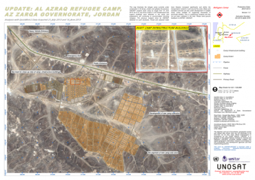 Al Azraq Refugee Camp (as of 25 Jul 2013)