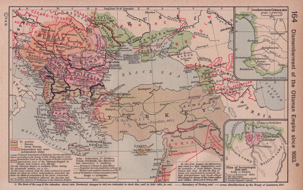 Dismemberment of the Ottoman Empire since 1683.