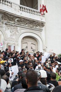 Protest in Tunisia